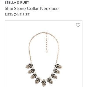 Stella and Ruby Shai Stone Collar Necklace